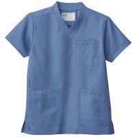 自重堂 男女兼用スクラブ WH11485B ブルーグレー SS 医療白衣 1枚 (取寄品)