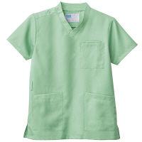 自重堂 男女兼用スクラブ WH11485B ミントグリーン S 医療白衣 1枚 (取寄品)