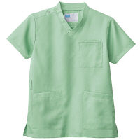 自重堂 男女兼用スクラブ WH11485B ミントグリーン 4L 医療白衣 1枚 (取寄品)