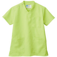 自重堂 男女兼用スクラブ WH11485B ライム 3L 医療白衣 1枚 (取寄品)