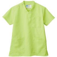 自重堂 男女兼用スクラブ WH11485B ライム 4L 医療白衣 1枚 (取寄品)