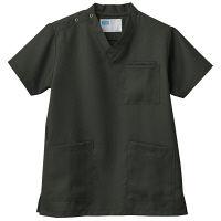 自重堂 男女兼用スクラブ WH11485B カーキ SS 医療白衣 1枚 (取寄品)
