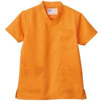 自重堂 男女兼用スクラブ WH11485B オレンジ 4L 医療白衣 1枚 (取寄品)