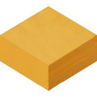 溝端紙工印刷 カラーナプキン 4つ折り 2PLY イエロー 1袋(50枚入)