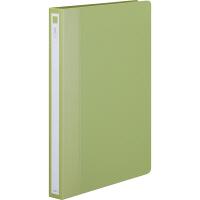アスクル リングファイル A4タテ 丸型2穴 背幅27mm グリーン(緑) 3冊