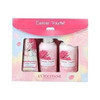 【数量限定】L'OCCITANE(ロクシタン) チェリーパステル ファーストキット(シャワージェル、ボディミルク、ハンドクリーム)