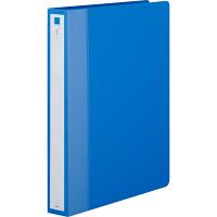 アスクル リングファイル丸型2穴 A4タテ 背幅36mm ブルー 3冊