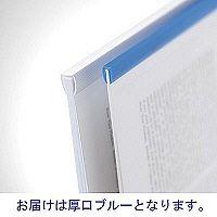 レール式クリアホルダーA4縦30枚 青