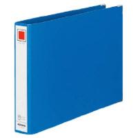 コクヨ チューブファイル Mタイプ A4横 30mmとじ 2穴 青 フ-1635B 1セット(8冊:1冊×8)