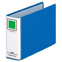 コクヨ リングファイル貼り表紙タイプ 丸型2穴 B6ヨコ 背幅56mm 20冊 青 フ-448B