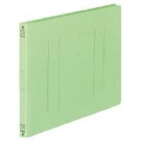 コクヨ フラットファイルV樹脂製とじ具 B5横 15mmとじ 緑 フ-V16G 1セット(100冊:1冊×100)