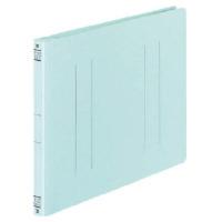 コクヨ フラットファイルV樹脂製とじ具 B5横 15mmとじ 青 フ-V16B 1セット(100冊:1冊×100)