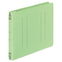 コクヨ フラットファイルV樹脂製とじ具 B6横 15mmとじ 緑 フ-V18G 1セット(100冊:1冊×100)