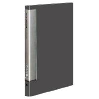 コクヨ クリヤーブックウェーブカット替紙式 B4縦 17枚ポケット ダークグレー ラ-T724DM 1セット(8冊:1冊×8)