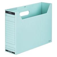 コクヨ ファイルボックスーFS BタイプB4横95mm フタ付 青 1セット(25冊:1冊×25)