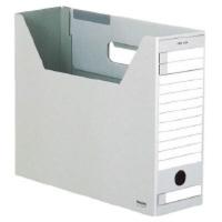 コクヨ ファイルボックスーFS Dタイプ A4横 収容幅94mm グレー A4-LFD-M 1セット(25冊)