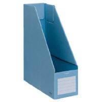 コクヨ ファイルボックスS A4縦 収容幅94mm 青 フ-E450B 1セット(25冊)