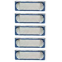 テラモト FXブライトラーグ(5枚セット) ブルー CL-900-130-3 (直送品)