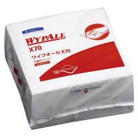 ワイプオールX70 白 4つ折り 不織布ウエス 1ケース(900枚:50枚入×18パック) 60570 日本製紙クレシア