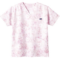 フォーク 花柄スクラブ ピンク M 7008SC-3 1枚 (直送品)