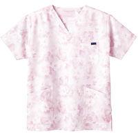 フォーク 花柄スクラブ ピンク LL 7008SC-3 1枚 (直送品)