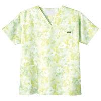 フォーク 花柄スクラブ グリーン M 7008SC-4 1枚 (直送品)