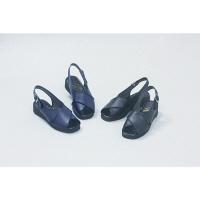 マリアンヌ製靴 ホール&オフィスサンダル No.2290 ネイビー 24.0cm ナースサンダル 1足 (取寄品)