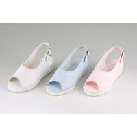 マリアンヌ製靴 プラットサンダル No.8 ブルー 23.0cm ナースサンダル 1足(取寄品)