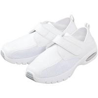 マリアンヌ製靴 スーパーエアー!SA4(マジックタイプ) ホワイト 25.5cm ナースシューズ 1足(取寄品)