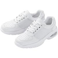 マリアンヌ製靴 バリュ!V4(可動式ベルト) V4E ホワイト 28.5cm ナースシューズ 1足 (取寄品)
