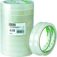 スリーエム ジャパン 3M 軽包装用OPPテープ 618 12X50 61812X50 1セット(10巻入) 356ー2361 (直送品)