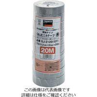 脱鉛タイプビニールテープ 19mmX20m 10巻入り グレー GJ-2120 GY 1パック(200m) 126-2238 (直送品)