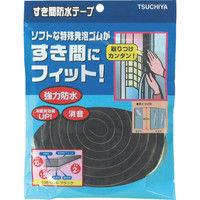 槌屋 すき間防水テープ ブラック 10mm×15mm×2m SBE-004 1巻(2m) 356-4177 (直送品)