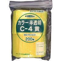 生産日本社 セイニチ 「ユニパック」 Cー4 黄 100×70×0.04 200枚入 C4CY  366ー7332 (直送品)