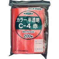 生産日本社 セイニチ 「ユニパック」 Cー4 赤 100×70×0.04 200枚入 C4CR  366ー7324 (直送品)