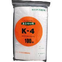 生産日本社 セイニチ 「ユニパック」 Kー4 400×280×0.04 100枚入 K4 1セット(100枚:100枚入×1袋) 366ー7774 (直送品)