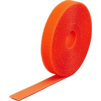 トラスコ中山 TRUSCO マジックバンド結束テープ 両面 幅20mm×長さ5m オレンジ MKT2050OR 1巻 361-9664 (直送品)