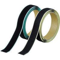 トラスコ中山(TRUSCO) マジックテープ 弱粘着 幅25mmX長さ1m 黒 TPD-25MTS-BK 1巻 361-9591 (直送品)