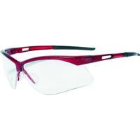 TRUSCO(トラスコ中山) 保護メガネ・ゴーグル 二眼型セーフティグラス フレームレッド TSG8106RE 1個 365-8449 (取寄品)