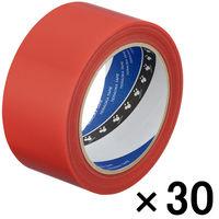 寺岡製作所 P-カットテープ 4140 強粘着 赤 幅50mm×25m巻 1箱(30巻入)