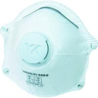 山本光学 DS2 使い捨て防じんマスク10枚 排気弁付 サイドバンドタイプ 3400BT 1セット(10枚:10枚入×1箱) 353-8508 (取寄品)