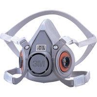 3M(スリーエムヘルスケア) 防毒マスク半面形面体 M 6000M 1個 330-5643 (直送品)
