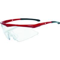 TRUSCO(トラスコ中山) 保護 一眼型安全メガネ スポーツタイプ フレームレッド レンズクリア TSG1856RE 1個 365-8333 (取寄品)