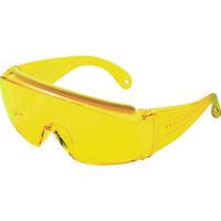 TRUSCO(トラスコ中山) 保護メガネ・ゴーグル メガネ併用 一眼型セーフティグラス イエロー GS180N 1個 171-4082 (直送品)