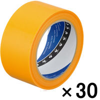 寺岡製作所 P-カットテープ 4140 強粘着 黄 幅50mm×25m巻 1箱(30巻入)
