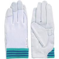 富士グローブ 国産牛革手袋 #12A デンコーアルミ 白 S 3210 1双 334-5092(直送品)