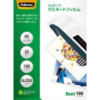 フェローズ パウチフィルム 100ミクロン ベーシック A5サイズ用 5400601 1箱(25枚入)