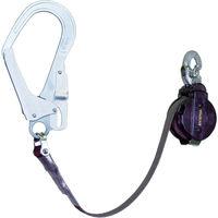 ランヤード 補助ロープ 1本吊り 軽量 ツヨロン 巻き取り式安全帯 着脱タイプ 黒 ACRL593JANBP 354-2408 Fujii(藤井電工)(直送品)