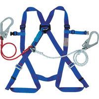 1本吊り ツインランヤード ツヨロン 2本式フルハーネス安全帯 ブルー R510DZ1BX 1本 354-9917 Fujii(藤井電工) (直送品)
