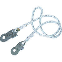 ランヤード 補助ロープ 1本吊り ツヨロン 安全帯用セフティロープ T11BX 1本 122-7343 Fujii(藤井電工) (直送品)